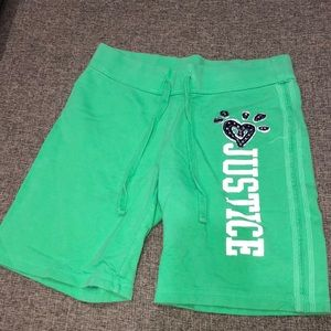 Justice Sweat Shorts  (Girl-size 10)